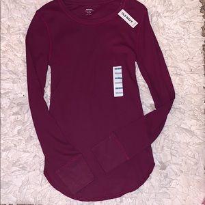 Burgundy under shirt